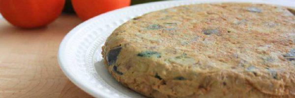 tortilla de calabacin y berenjena