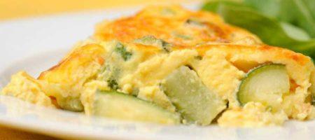 tortilla de manzana con calabacin